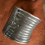 Antique Laotian silver cuff