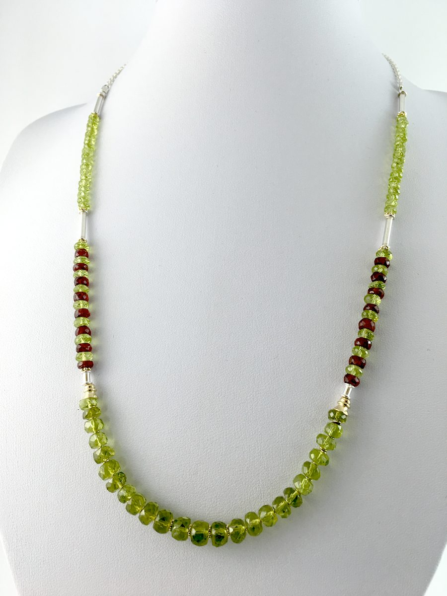 peridot ruby necklace by john peebles