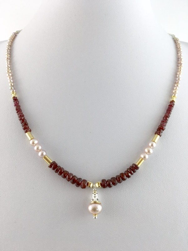 Best Ruby Pearl necklace - Jewels of Byron PI23