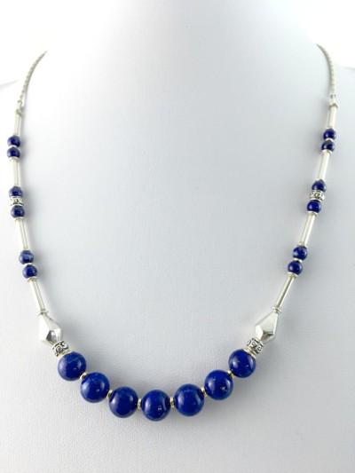 lapis silver necklace