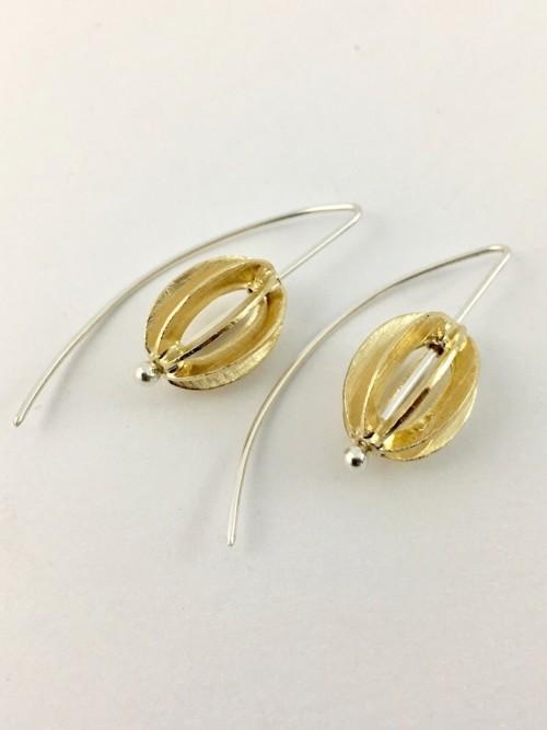 Modern Birdcage Earrings